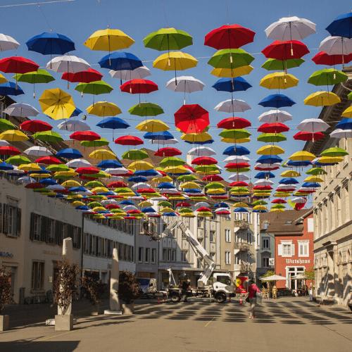 Schirm-Aktion – Mit dem Gewerbe Olten